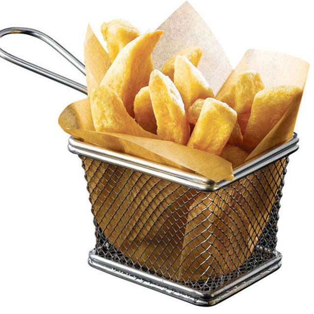 Stainless Steel Fryer Serving Food Presentation Basket Kitchen French Fries Novelty Kitchen Cooking Tools Accessories