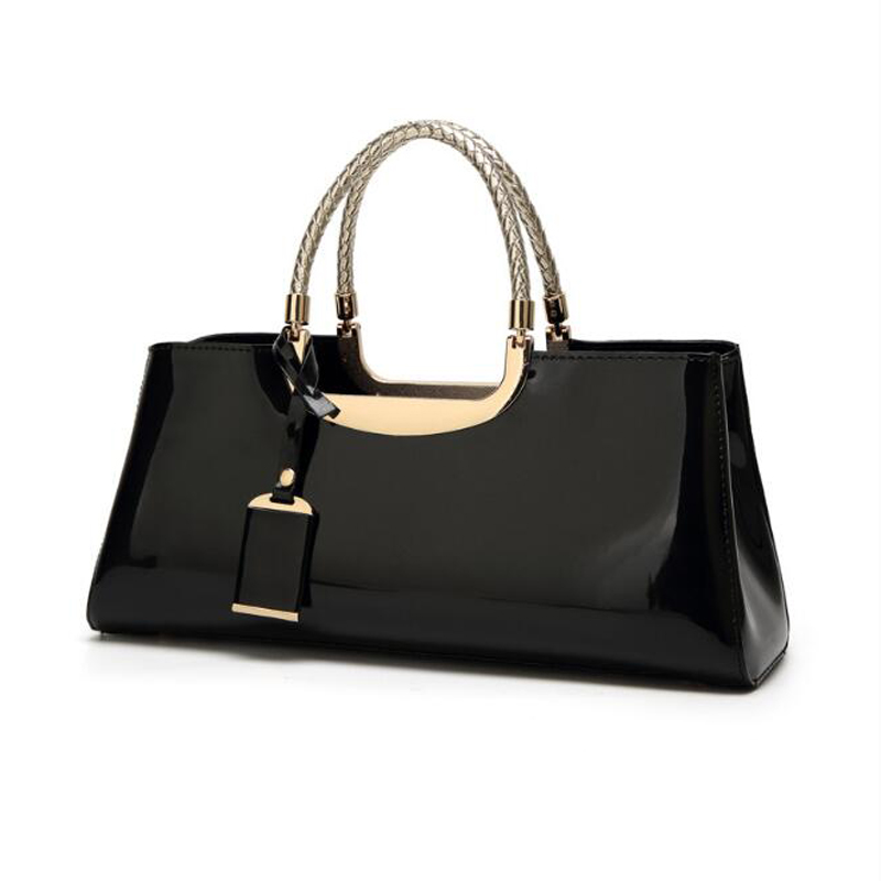 Luxurious Evening Bags Paint Smooth Handbag for Women Banquet Bag Female Totes Jelly Bags bolsa feminina for Wedding Party in Top Handle Bags from Luggage Bags