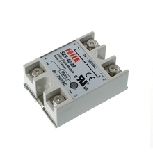 цена на 1 pc SSR-40 AA AC-AC Metal Base Solid State Relay Moudle SSR-40AA 40A Output AC 24-380V Good Quality Wholesale Hot Sale 2019 new