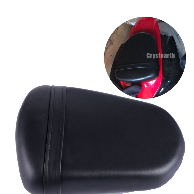 Black Motorcycle Replacement Rear Passenger Seat Pillion Seat Cushion Pad For Suzuki GSXR 600 GSXR750 2006 2007 06 07 for ktm 390 duke motorcycle leather pillon passenger rear seat black color