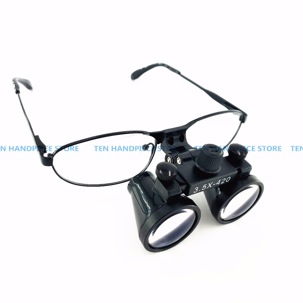 2018 good quality Dental 3.5x Binocular Loupes Magnifying Surgical Glasses Optical 420mm-in Teeth Whitening from Beauty & Health    1