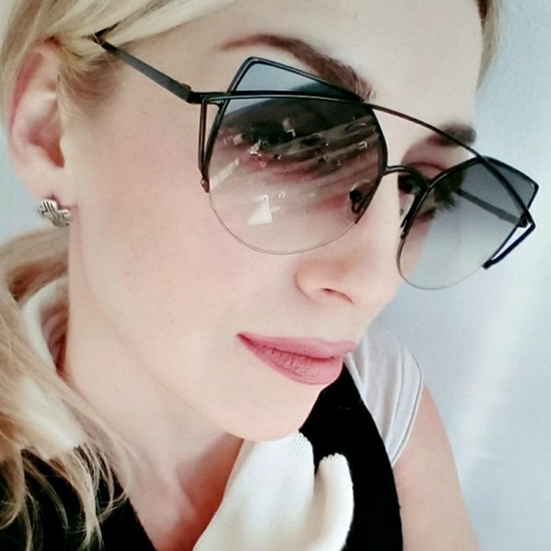 Gafas De Sol originales De Metal De diseñador De marca De lujo para mujer vintage Oculos De Sol femenino