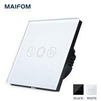고급 유리 패널 MAIFOM 디머 스위치 터치 센서 제어 AC170V-240V 유리 패널 터치 디머 스위치 무료 배송