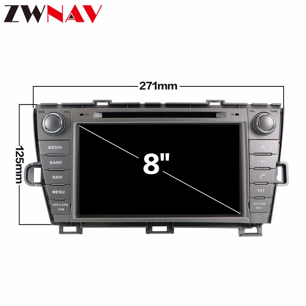 4 32G Android 8 0 Car Radio Stereo head unit For Toyota Prius 2009 2010 2011