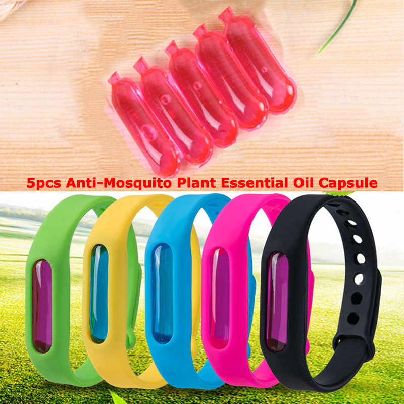 5pcs Anti-Mosquito Plant Essential Oil Capsule For Our Mosquito Repellent Bracelets Accessories