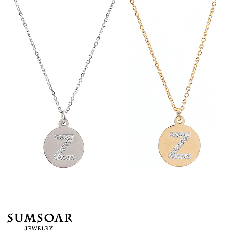 Letter Z Necklace ALP Aliexpress.com : Buy Sumsoar Jewelry 316L Stainless Steel Letter Z Pendant  Necklace Set for Mother's Day Gift 10pcs/lot from Reliable set top box  dreambox ...