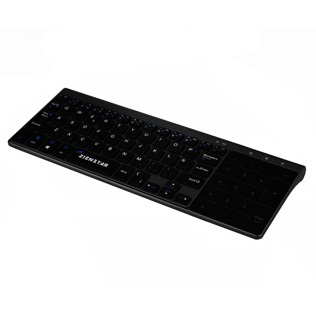 Zienstar 2.4G Wireless Mini  Keyboard with Touchpad and Numpad  for Windows PC,Laptop,Ios pad,Smart TV,HTPC IPTV,Android Box 3