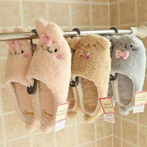Image 5 - Millffy Новые теплые зимние милые тапочки кролика, очень мягкая теплая Нескользящая одежда для дома, спальни