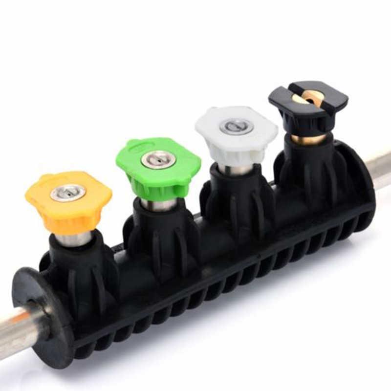 Boquilla de pulverización de lavadora de alta presión para lavar el coche boquilla de lanza de Metal con 5 puntas de boquilla rápida para Karcher K1 k2 K3 K4 K5 K6 K7