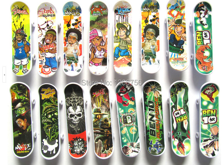 Free ship finger skateboard tech fingerboard skate board multi style deck  creative best toys