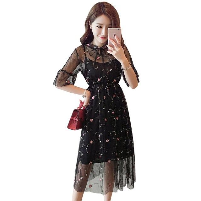 Elegantes kleid schwarz wei