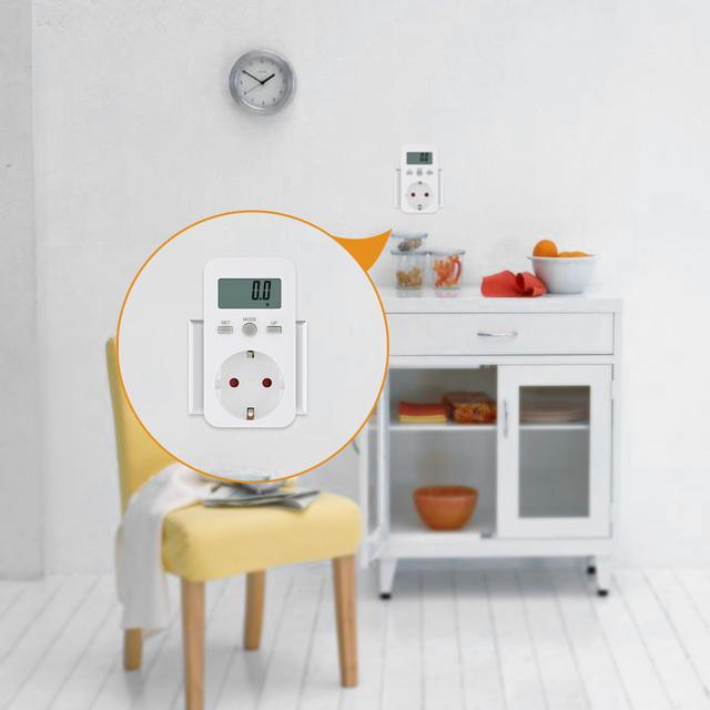 LCD Monitor Power Meter Electricity Electric SWR meter Usage Monitoring Socket EU /US/UK/AU PlugPlug-in Digital wattmeter