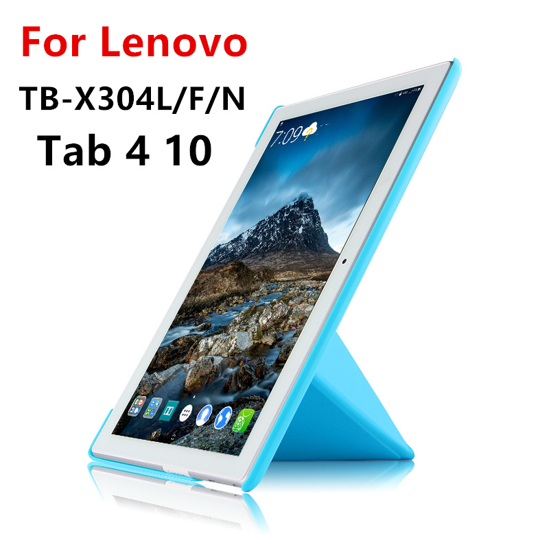 For Lenovo Tab 4 10 Case Cover X304L Tab410 Protective Protector Smart TB-X304L Leather PU X304 N F X304L Tablet Case 10.1inch ultra thin smart flip pu leather cover for lenovo tab 2 a10 30 70f x30f x30m 10 1 tablet case screen protector stylus pen
