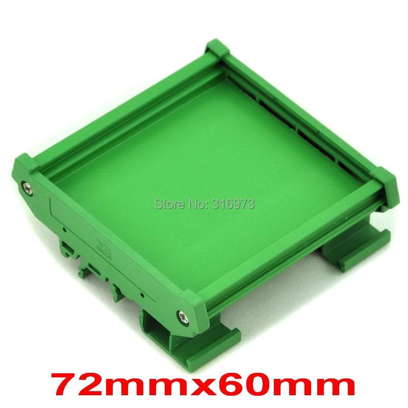 ( 50 Pcs/lot ) DIN Rail Mounting Carrier, For 72mm X 60mm PCB, Housing, Bracket.