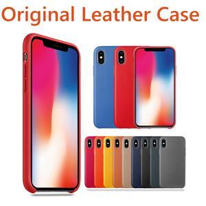 97ec6862d33 Pu Leather Case For iPhone 7 8 Plus Have LOGO Phone Case For iPhone X 6s 6  Plus 5s SE For Apple iPhone XS original leather coque