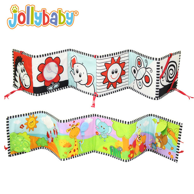 0M+ High Quality Baby Zoo Animal Cloth Book Crib Bed Around Soft Plush Early Educational Cot Book Toys