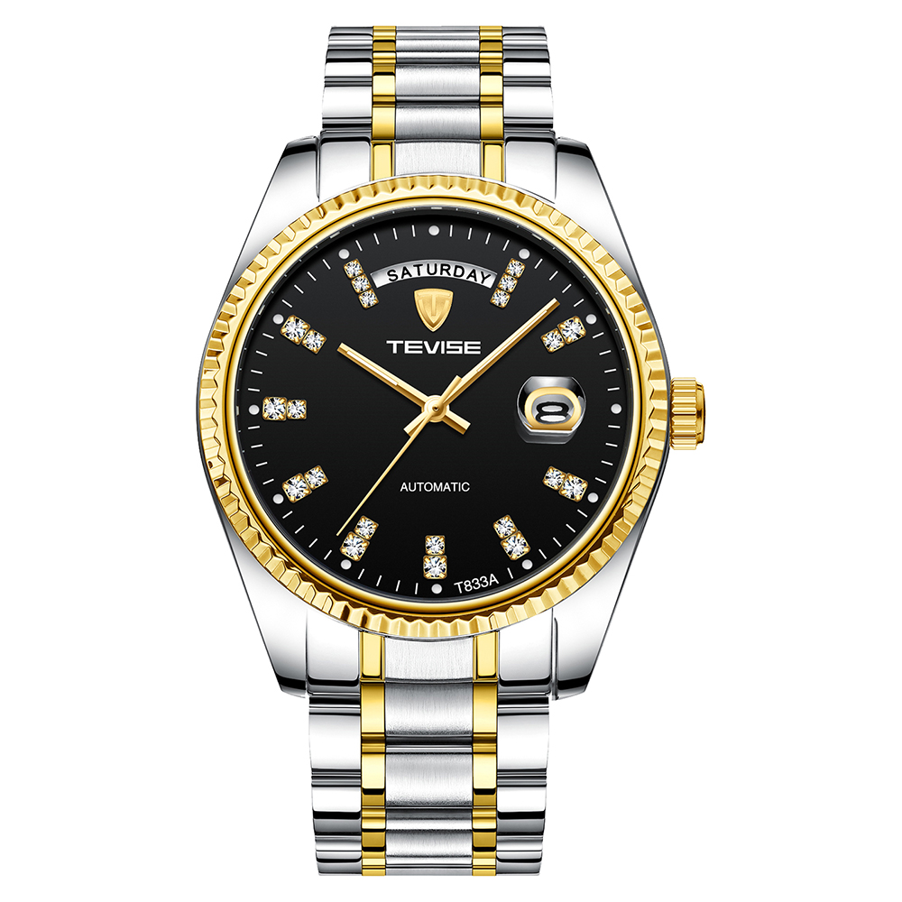 TEVISE Automatic Watch Mechanical-Watch Fashion-Clock Hands Business Mens Casual Luminous