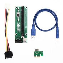 USB 3.0 PCI-E Экспресс Адаптер Riser Card PCI-E 1×2 х, 4 х 8 х 16 х Удлинитель SATA 15Pin к 4Pin Кабель Питания для Шахтер Машина