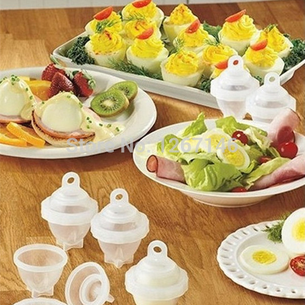 Hot Sales 1Set/7 Piece Cooking Hard Boil Eggs Without Shells With Eggs Separator Eggs Steamer Cooker Egg Tool Free DwGq4z