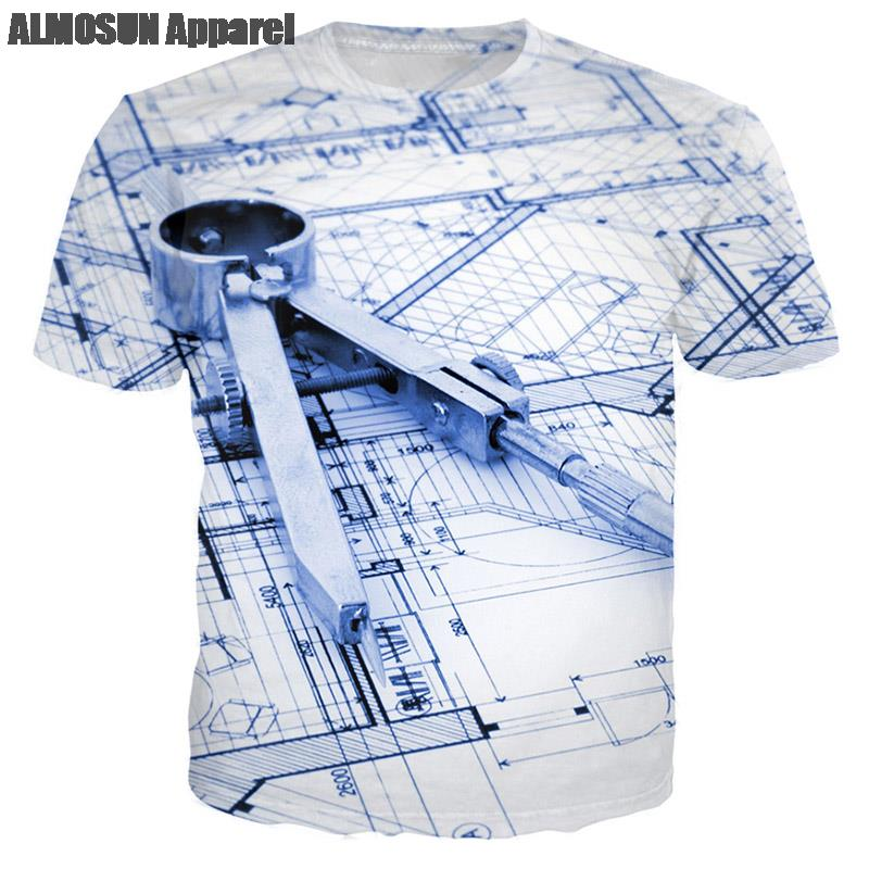 Almosun building designer blueprint 3d all over print t shirts short aeproducttsubject malvernweather Choice Image