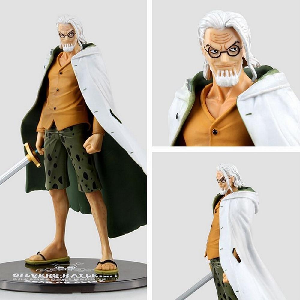 ФОТО one piece action figure japanese anime figurine pvc anime silvers rayleigh model toys