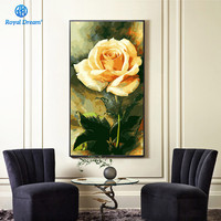 Large Size 40X80cm Rose Oil Painting By Numbers On Canvas Hand Painted Wall Decorations Living Room Paint by Number Kits