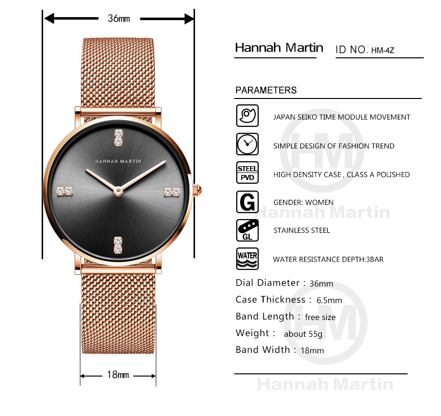 Fashion Women Bracelet Watches Top Brand Minimalist Ladies Ultra thin Quartz Wristwatch Luxury Stainless Steel Waterproof Clock in Women 39 s Watches from Watches