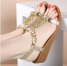 Zapatos de las mujeres sandalias comfort sandalias Verano de las mujeres Clásico Rhinestone 2017 sandalias de alta calidad de estilo Bohemio de moda CC130