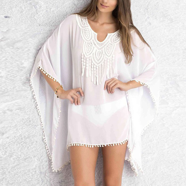 Women Kaftan Sarong Blouses Bathing Suit Beach Cover up