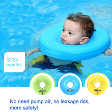 Swimtrainer No need pump air More Safety Swimming Ring Free inflatable collar Quality Baby Neck Swimming Ring 3-24months