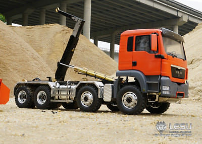 LESU 1/14 MAN TGS 8*8 Hydraulic Dumper RC Truck Roll On/Off Tipper Tmy  Without Remote Controller TH01997