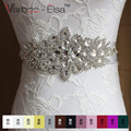 Free Shipping Beaded Crystals and Rhinestones Belt Bride Wedding Belt with Satin Ribbon Bridal Sash Wedding Belt Crystal