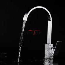 Новый Дизайн ванной смеситель Водопроводной воды Отводы кран судно смеситель латунный Нажмите Ванная комната Кухня Раковина кран Бесплатная доставка