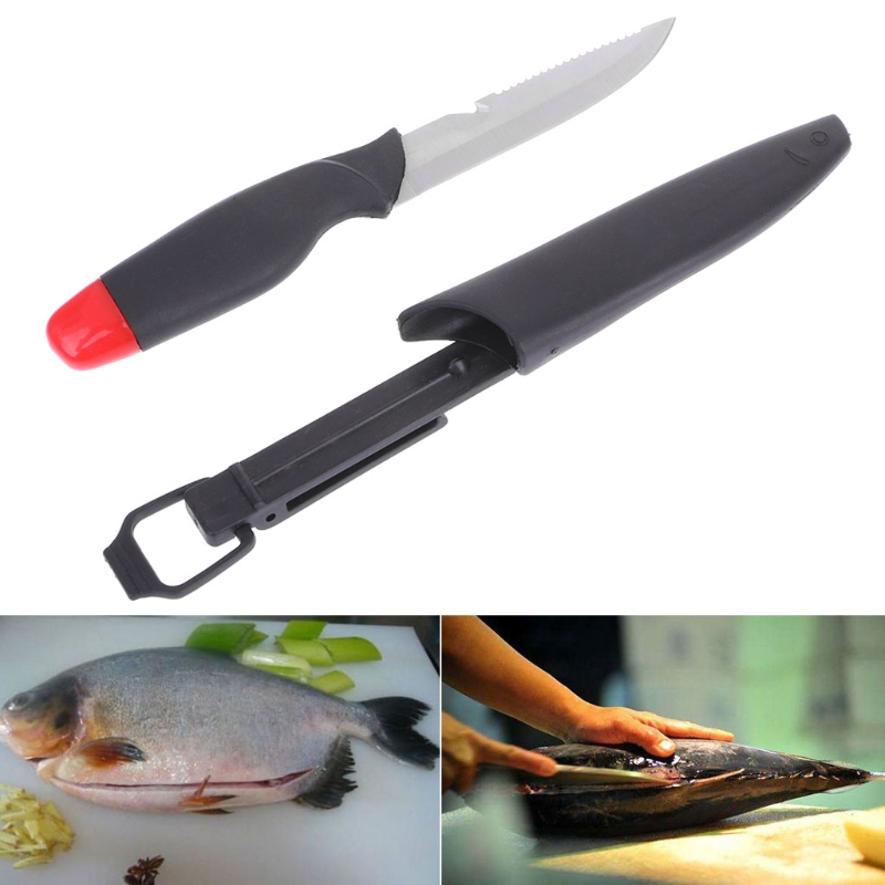 Fishing Knife Stainless Steel Floating Sharp Portable 26cm Tackle Multifunction