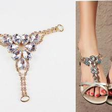 Rhinestone Bikini Connectors/buckle Gold-Plated Shoes Metal-Chain Clear Bags 5pcs Apparel