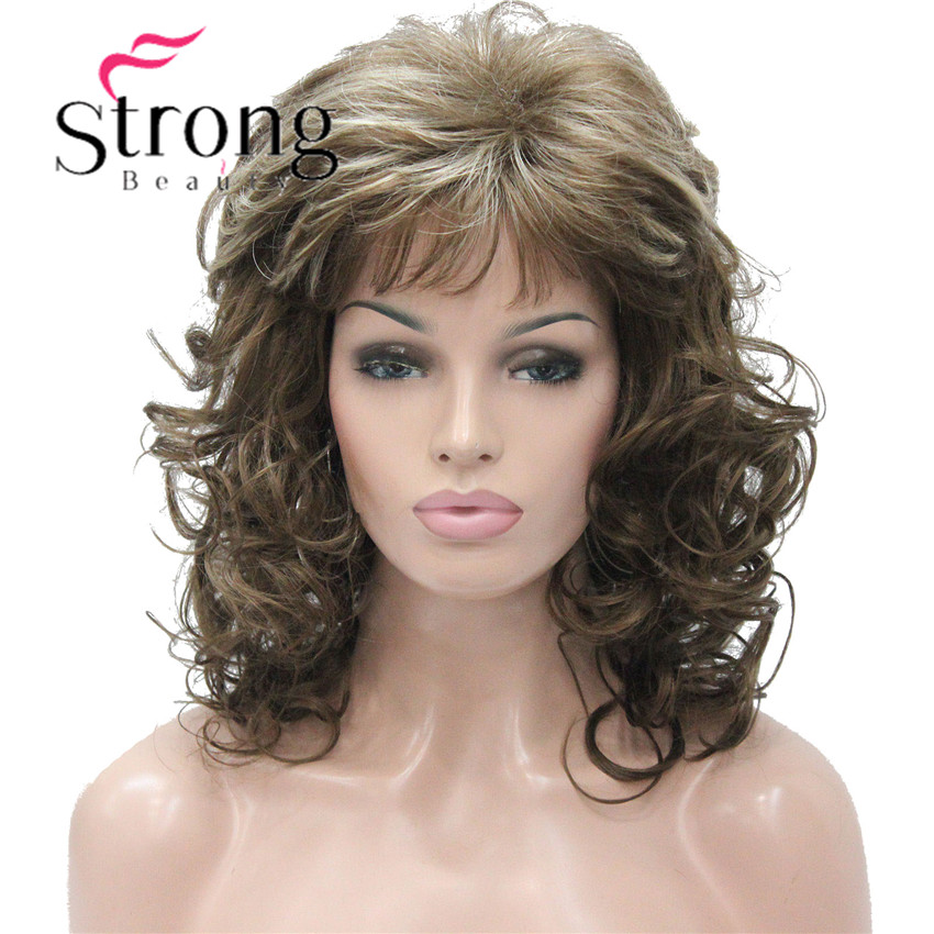 Strongbeauty 18 Quot Long Wavy Light Brown Highlighted Full