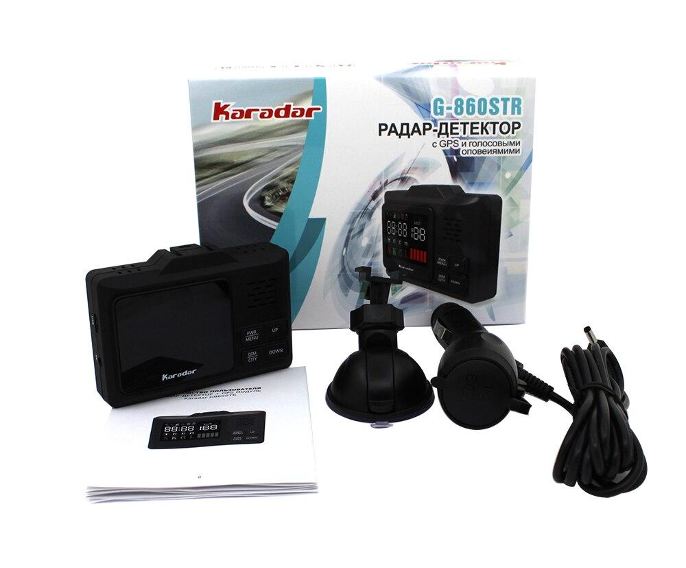 2019 KARADAR GPS combiné Radar détecteur G-860STR Anti Radar voiture Radar détecteur Laser Radar détecteur voix Strelka voiture-détecteur - 5