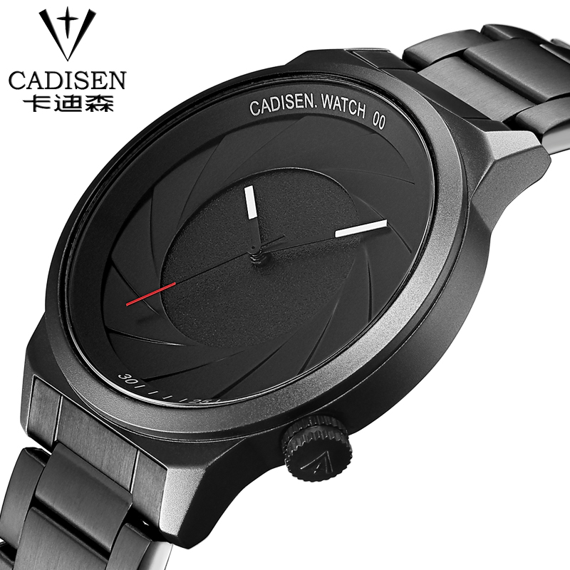 cadisen Luxury Brand Men Watch Ultra Thin Stainless Steel Clock Male Quartz Sport Watch Men Waterproof Casual Silica gel watch wwoor waterproof ultra thin date clock male stainess steel strap casual quartz watch men wrist sport watch 3 colors