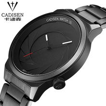 cadisen Luxury Brand Men Watch Ultra Thin Stainless Steel Clock Male Quartz Sport Watch Men Waterproof Casual Silica gel watch