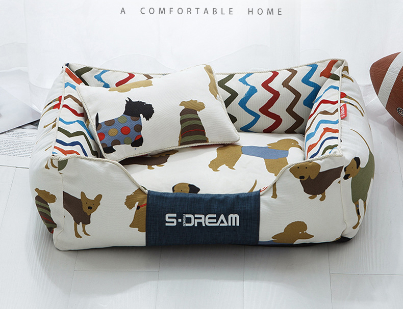 High Quality Soft Winter Worm Stripe Bed House For Dogs