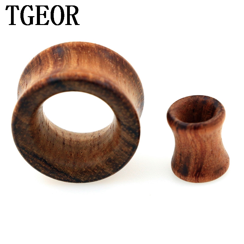 Hot new wholesale Fashion Charm 70pcs double flare mixed 7 gauges multi colors original wood ear