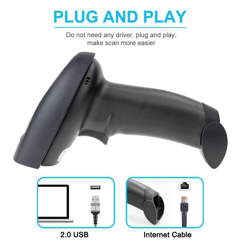 L28W Wireless 2D QR Barcode Scanner And L28BC Portable Bluetooth CCD Bar  Code Reader Scaner For Mobile Payment Computer