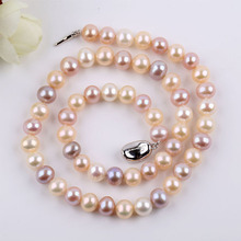 Zhaoru Freshwater Pearl Necklace  for Women Genuine Jewelry Gift ZN003