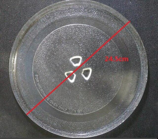 Qualität mikrowelle teile rotary glas platte swivel gericht palette 24,5 cm schüssel