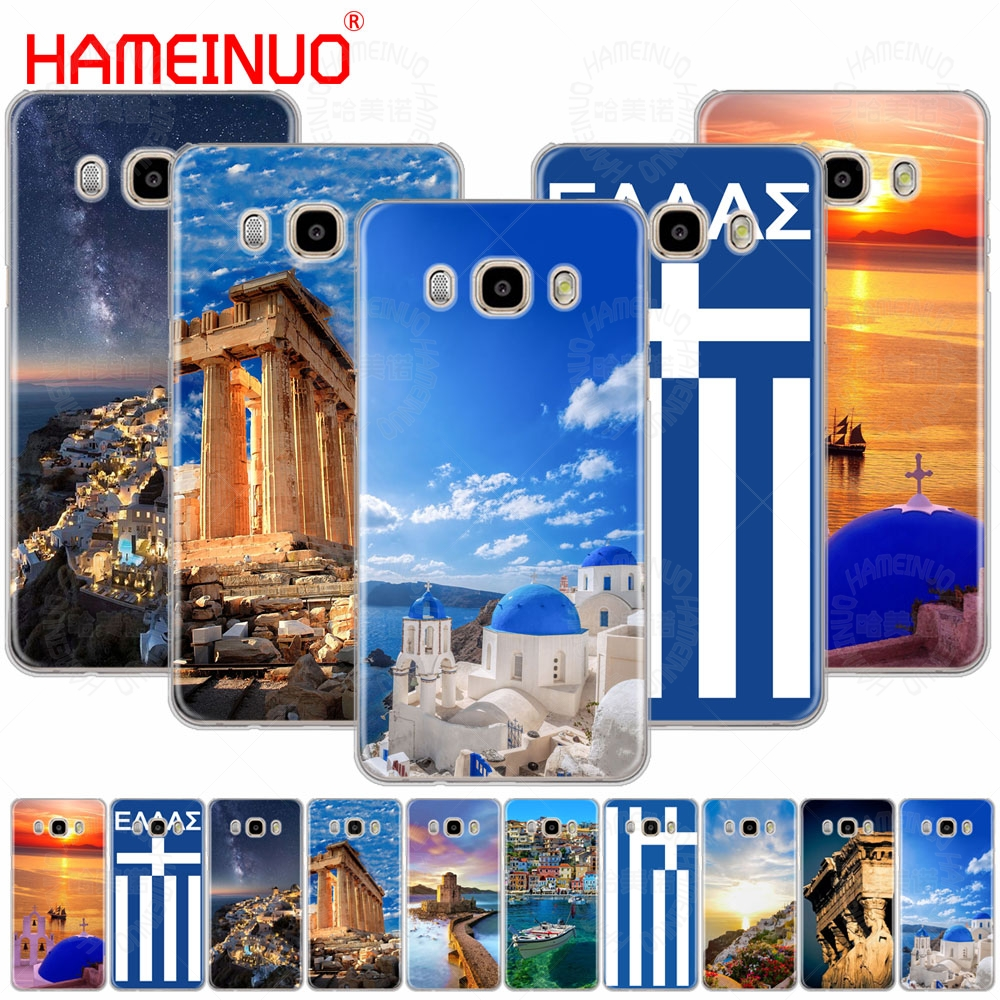 HAMEINUO Ancient Flag of Greece Scenery cover phone case for Samsung Galaxy J1 J2 J3 J5 J7 MINI ACE 2016 2015 prime