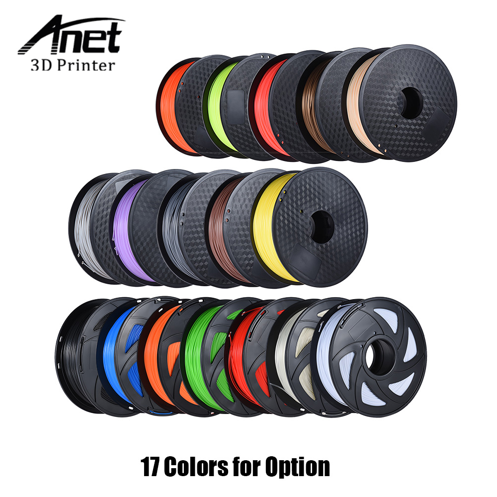 Anet PLA Filament 3D Printer Filament 1kg/Roll 2.2lb 1.75mm Material for MakerBot Anet RepRap 3D Printer Pen 16 Color Optional 3d printer parts filament for makerbot reprap up mendel 1 rolls filament pla 1 75mm 1kg consumables material for anet 3d printer