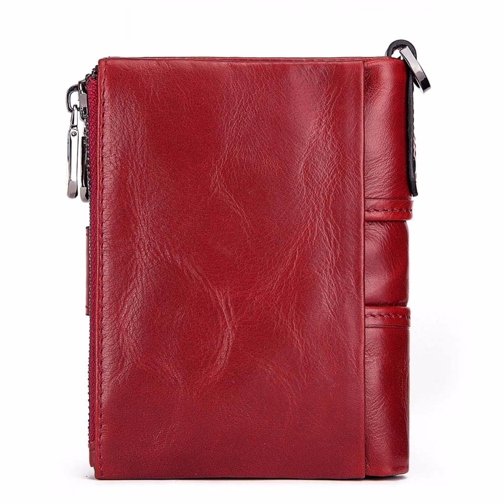 Wallet Wallets Women 2019 New Fashion Women 100% Genuine Leather lady Red Walets For Organizer Coin Purse Clutch Short Small HOT