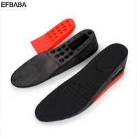 EFBABA Increased Insoles Pads Sweat Breathable Damping Insole Air Cushion Shoe Pad No Slip Running Sports Insoles Increased 55mm