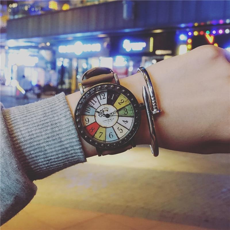 New 2017 Retro Women Casual Watch ladies Leather Luxury Watches Men Sport Quartz Wristwatches simple female Clock Hours Gift new 2016 bracelet watches women luxury brand pu leather quartz watch for women casual dress wristwatches hours female clock