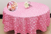 Luxury table linen wedding table cloth embroider rosette flower 3D table cover hotel banquet party round table decoration